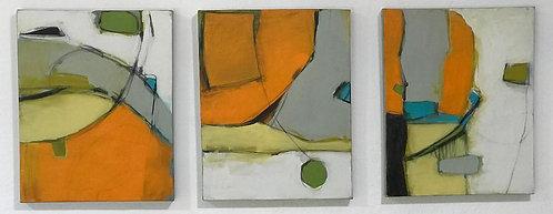 PENDULUM SWINGS a series of 3 paintings by C P WYATT