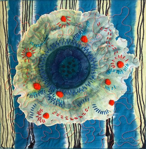 "Sally Dutko ""Dancing Flowers"" Fiber Art"