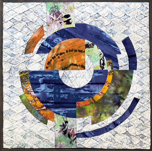 """Currents"" Fiber Art by Sally Dutko"