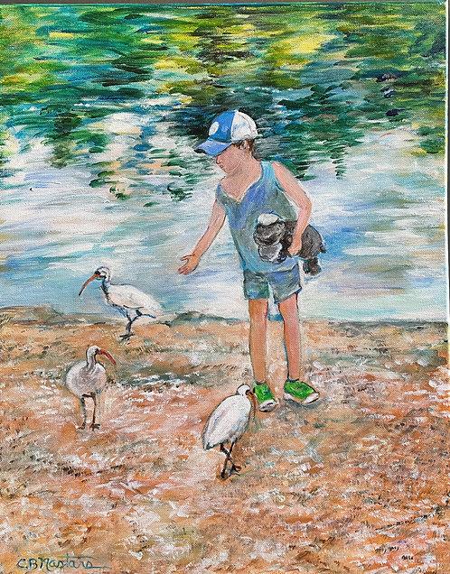 "PRECIOUS MOMENT is a 16""x20"" original acrylic painting by Carole Nastars"