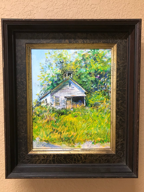 'Rural Schoolhouse' framed painting by Carole Nastars