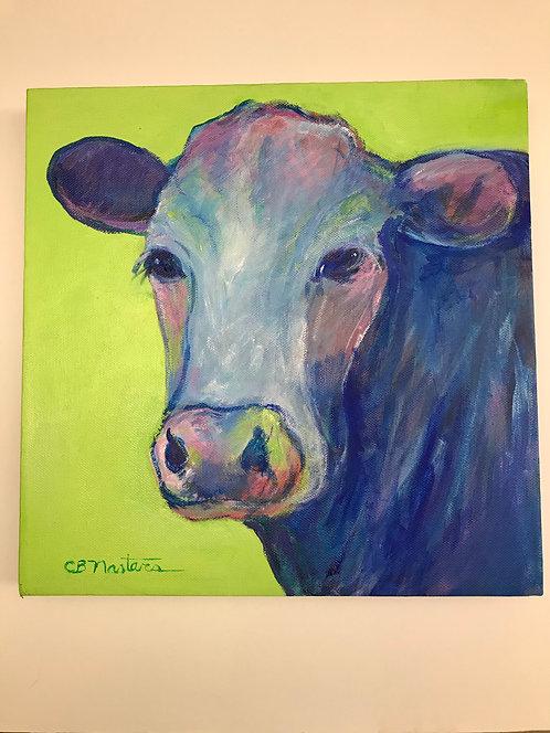 """Blue Moo-d"" original painting by Carole Nastars"