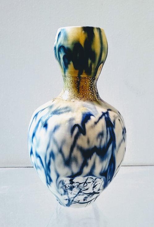 "Ludmila Evans ""Cattails and Angels"" Original porcelain vessel"