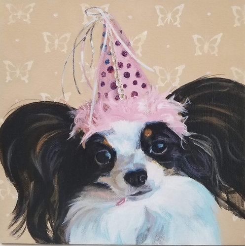 """5""""X5"""" giclee print on canvas, Marti Koehler, """"Party Hat"""""""