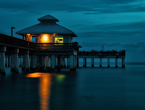 """Fort Myers Beach Pier"" by Kathryn Seguin Photography"