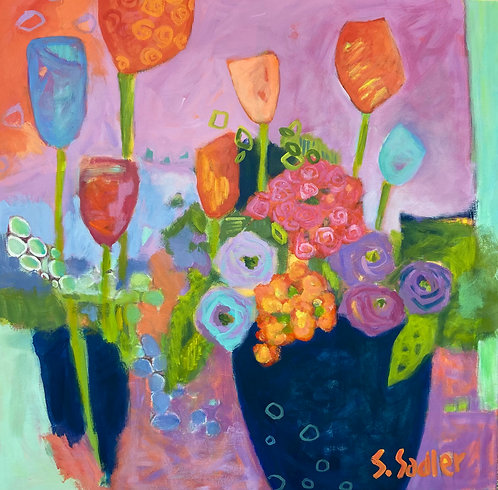 ''NOVEMBER BLOOM'' an original acrylic by Susan Sadler