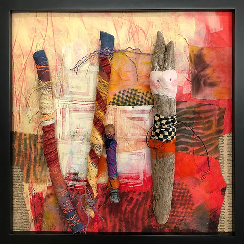 """Family and Friends,"" Fiber Art by Sally Dutko $160"