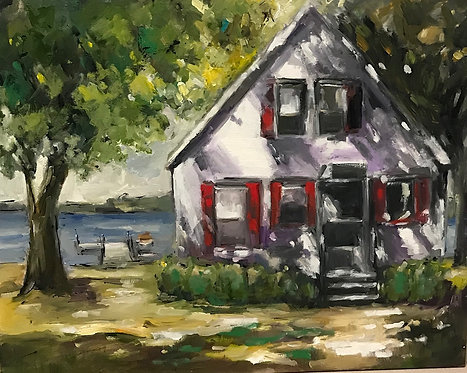 CUSTOM-MADE My Childhood Summer Cottage by Joan Roberts. I paint YOUR memories