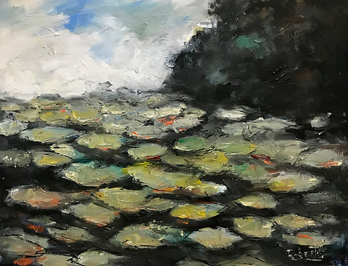 """""""Lily Pads"""" by Joan Roberts"""