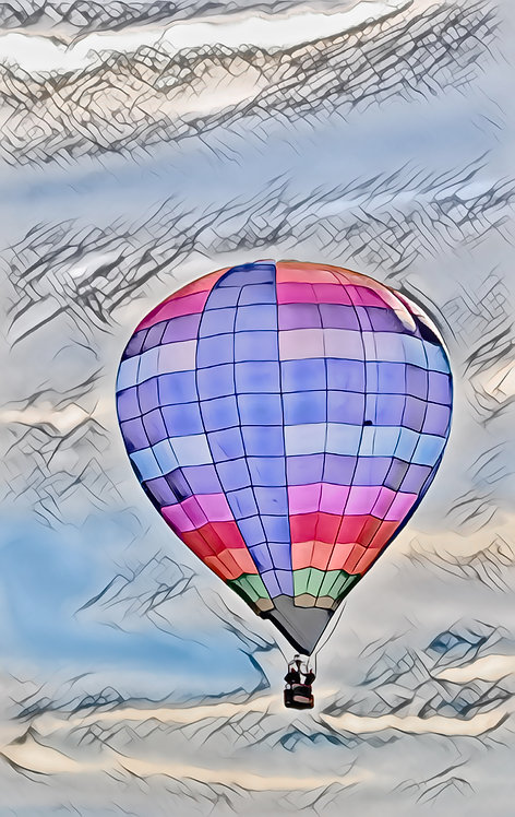 Ballooning Mini Metal Print by Kathryn Seguin Photography