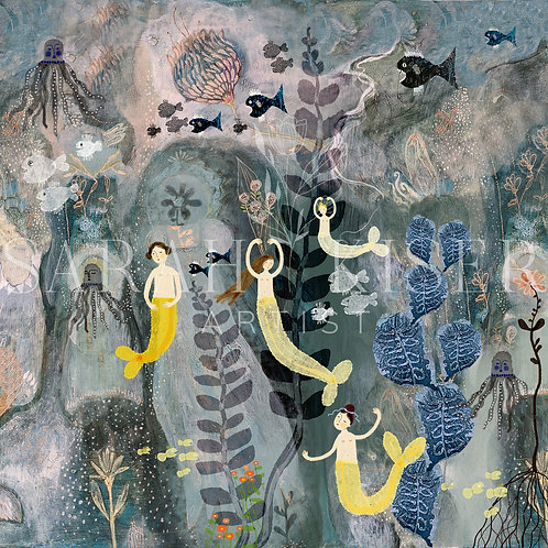 """In An Octopus Garden"" 3-d Mermaid Under the Sea Diorama Sarah Kiser"