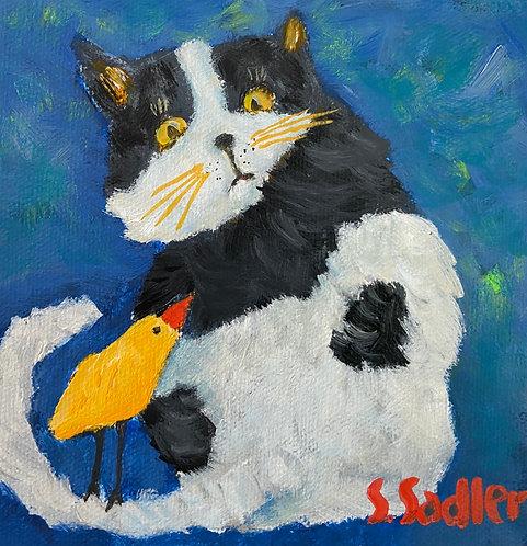 """PERTURBED' original acrylic by Susan Sadler"