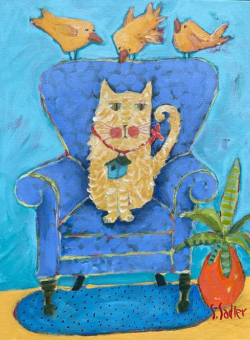 """""""BIG TEASE"""" original acrylic by Susan Sadler"""