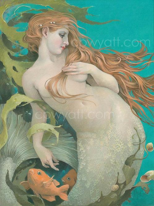 """CAPTIVE HEART""  SIGNED PRINTS -Mermaid- by Artist Christina P. Wyatt"