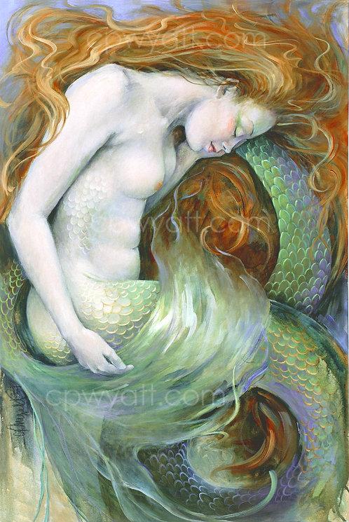 """SIRENS SLUMBER""  SIGNED PRINTS -Mermaid- by Artist Christina P. Wyatt"