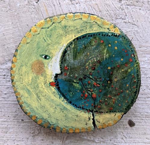 """Sienna Moon"" Original Painting on Wood by Sarah Kiser"