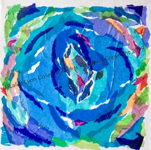 Swimming Into The Deep Blue Original by Lalita Lyon Cofer