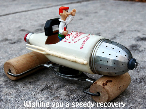 """Speedy Recovery"" Re-Psycho'd Greeting Card by artist Mike Danley"