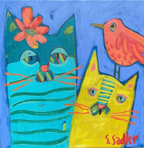 """Feeling Fancy"" an original acrylic by Susan Sadler"