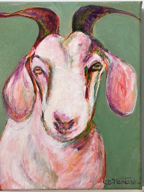 """SMART KID"" is an 8""x10"" acrylic painting by Carole Nastars"