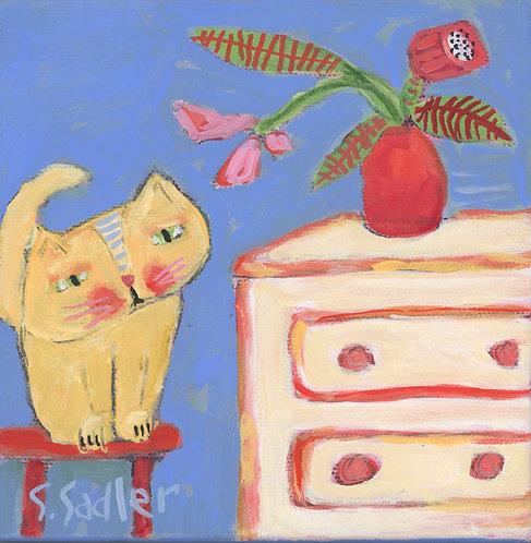"""That's My Spot"" original acrylic by Susan Sadler"