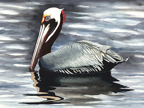 Christine Reichow Gliding – Original Watercolor