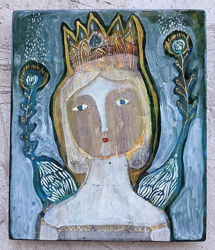 """Ella"" Original Painting on Wood by Sarah Kiser"