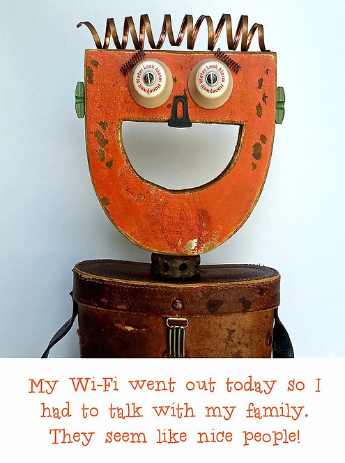 """Wi-Fi"" Re-Psycho'd Greeting Card by artist Mike Danley"