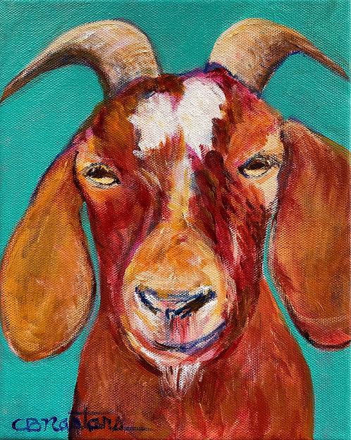 "SUPER 'KID' is an original 8""x10"" acrylic painting by Carole Nastars"