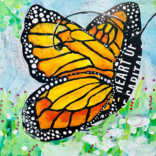 """Monarch"" Mixed media by Kelly Morrison"