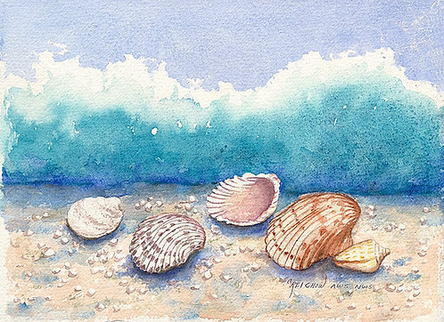 Shellmates, Watercolor Giclée Reproduction by Christine Reichow