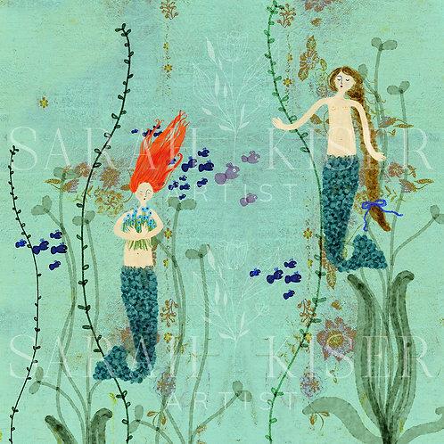 """Where Mermaids Come From"" 3-d Mermaid Under the Sea Mermaid Diorama Sarah Kiser"