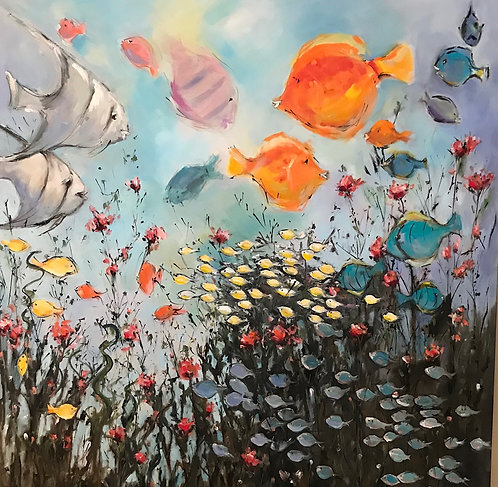 """Fish Party"" by Joan Roberts  $1700"