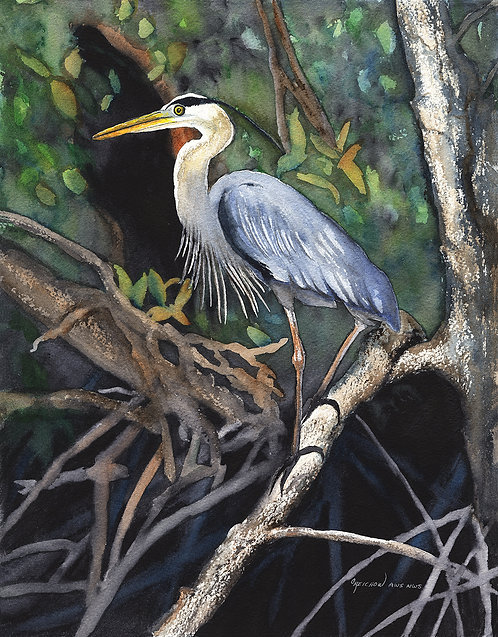 """Nature Lover"" Original Watercolor by Christine Reichow"