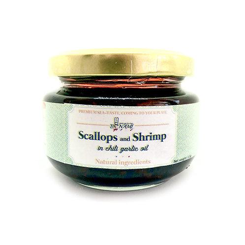 Scallops and Shrimp in chili garlic oil