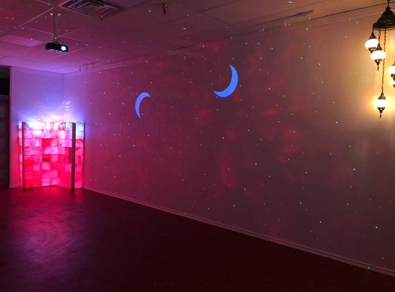 AC Yoga Interior - Crescent Moons