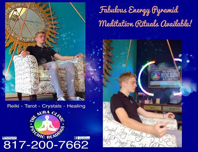 Stop by and see us and use our Energy Pyramid! 🙏🏻🔮⚡️ Meditation like you've never seen it before!