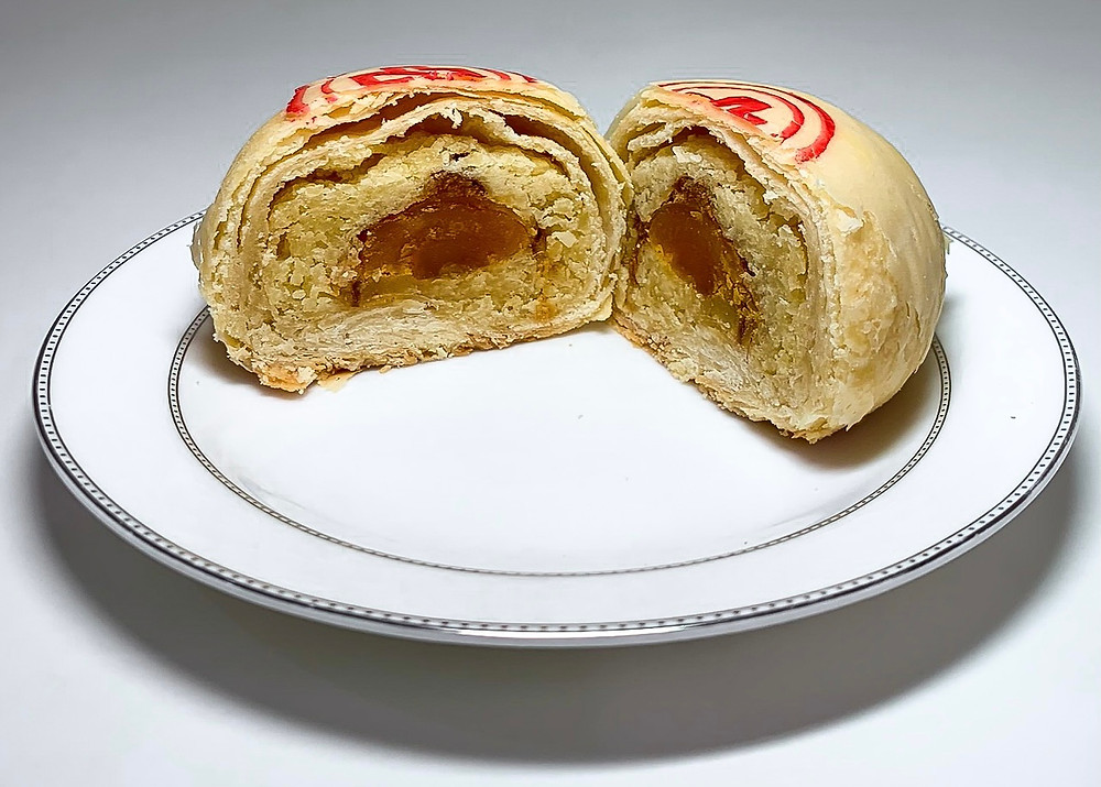 葷綠豆椪 (台式月餅) Mung bean and meat pastry (Taiwanese Mooncake)