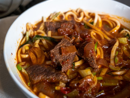 [Recipe] Red Braised Beef Noodle Soup 紅燒牛肉麵 (Modified Version)