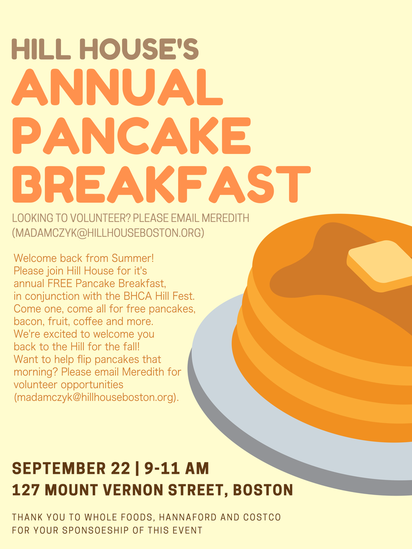 Hill House's Annual Pancake Breakfast