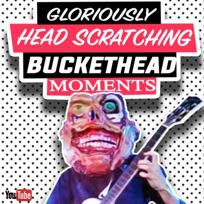 Buckethead head scratching