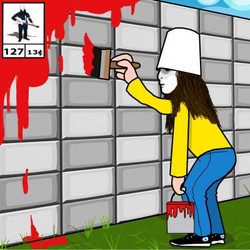 buckethead paint to the tile 127