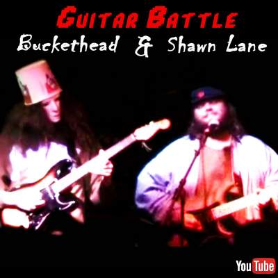 Buckethead Shawn Lane Guitar Battle