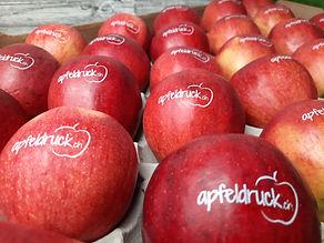 bedruckte Äpfel