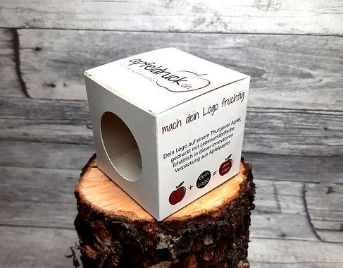 Einzelverpackung aus Apfelpapier