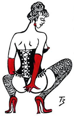 Lady in Red - Linocu