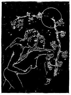 Romantic Night - Linocut