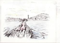 Crossing Elliot Bay - Litograph