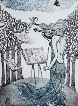 Wind me with the Music - Etching Aqua Tint