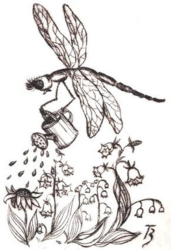 Dragon Flowers - Dry Point